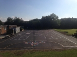 Rear Playground at the Holy Family Catholic School Witham after full reconstruction