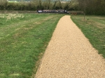 STANTON LOW PARK Reconstruction New paths with Spray Tar & shingle Finish (3)